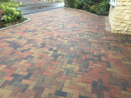 Image 106 - Block paving driveway with granite setts in Shalford