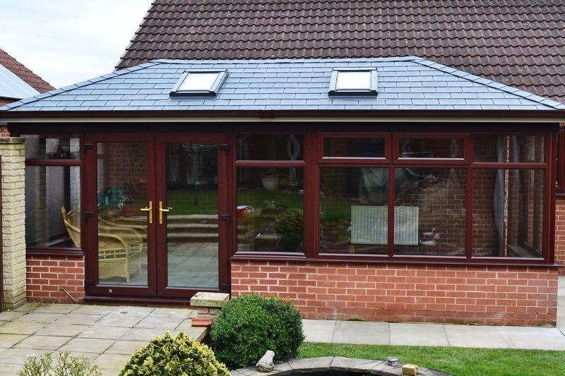 Image 1 - Insulated Tile Effect Conservatory Roof with Skylight Windows.