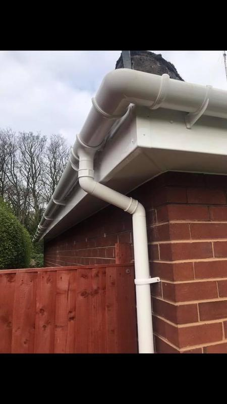 Image 26 - New u.p.v.c soffits fascia guttering.Also downpipe