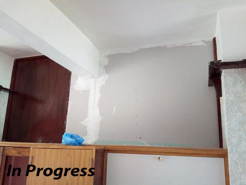Image 29 - In Progress: Fixing damaged wall