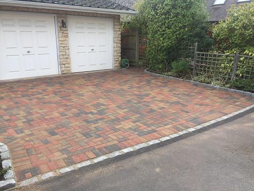 Image 107 - Block paving driveway with granite setts in Shalford