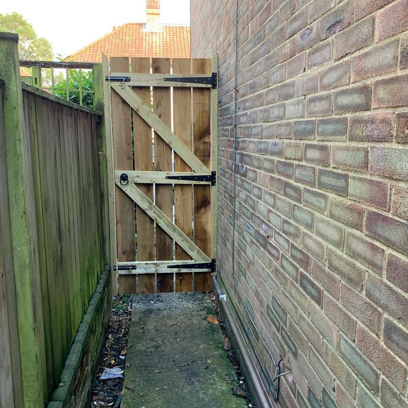 Image 30 - Construction & installation of bespoke garden gate.