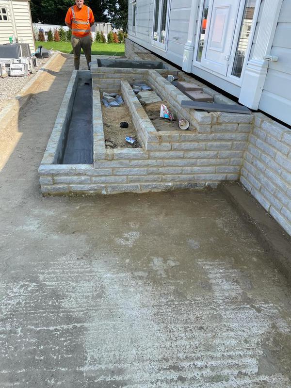 Image 12 - Stone brick steps in progression.