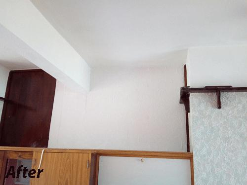 Image 30 - After: Damaged wall fixed