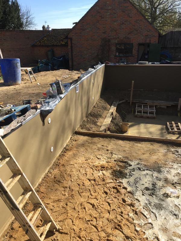 Image 15 - Start of rendering and screeding of a new build swimming pool