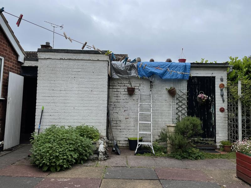 Image 19 - The customers garage that we installed a new felted roof along with new white fascias and guttering, you shall see the outcome enclosed within our photos.