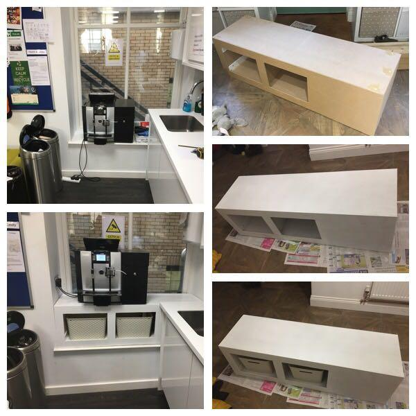 Image 22 - SOMETHING ABIT DIFFERENT, A BESPOKE UNIT TO RAISE THE COFFEE MACHINE & PROVIDE STORAGE