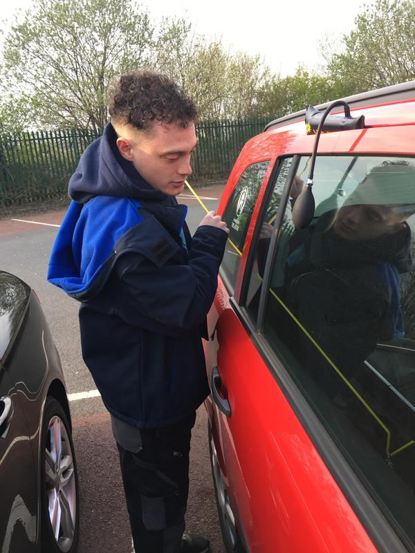 Image 52 - Customer locked his keys inside his car. Keys safely extracted with no damage to vehicle