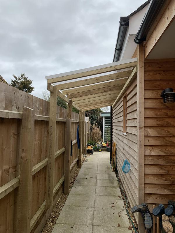Image 5 - Side path canopy storage area.