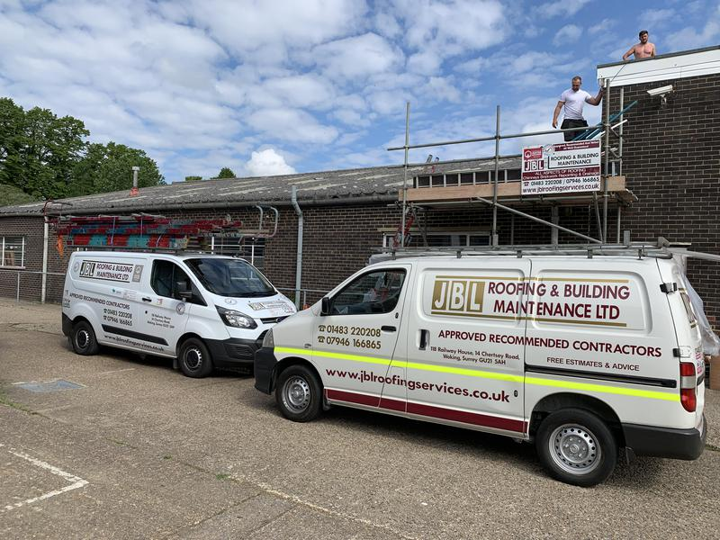 Image 25 - commercial asbestos roof repair's on a wear house building  in Guildford Surrey