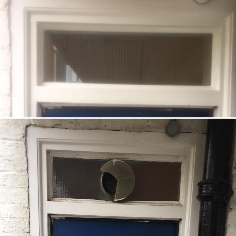 Image 8 - Our trusted handyman replacing glass in Stockwell. Handy Gentlemen