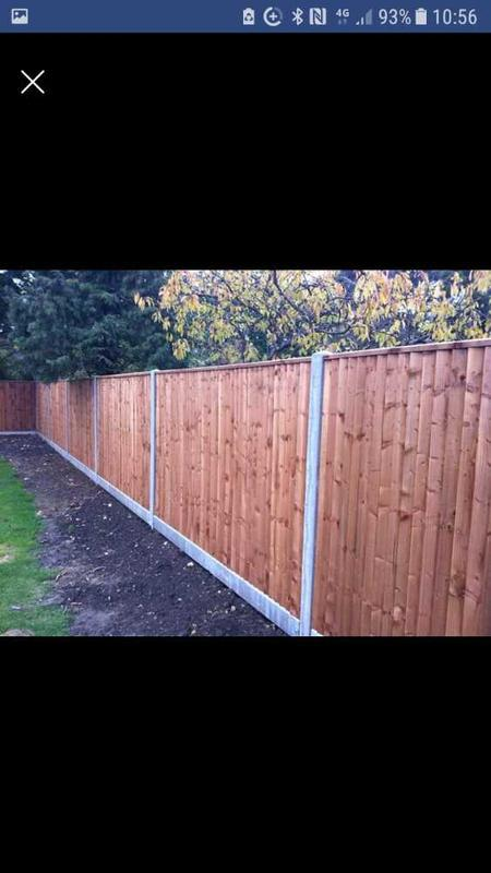 Image 29 - Closed board fence panels with concrete posts and gravel boards