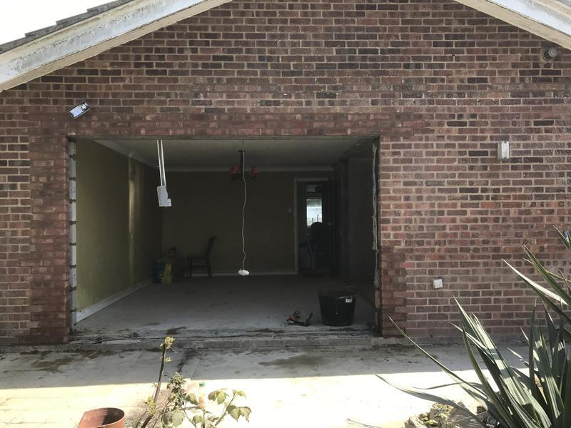 Image 16 - To take out door and window and instaall new catnic steel lintel and tooth in brickwork on sides to seal in dymchurch
