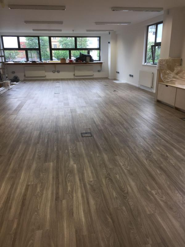 Image 40 - Supply & Fit LVT Contract for an office Hall