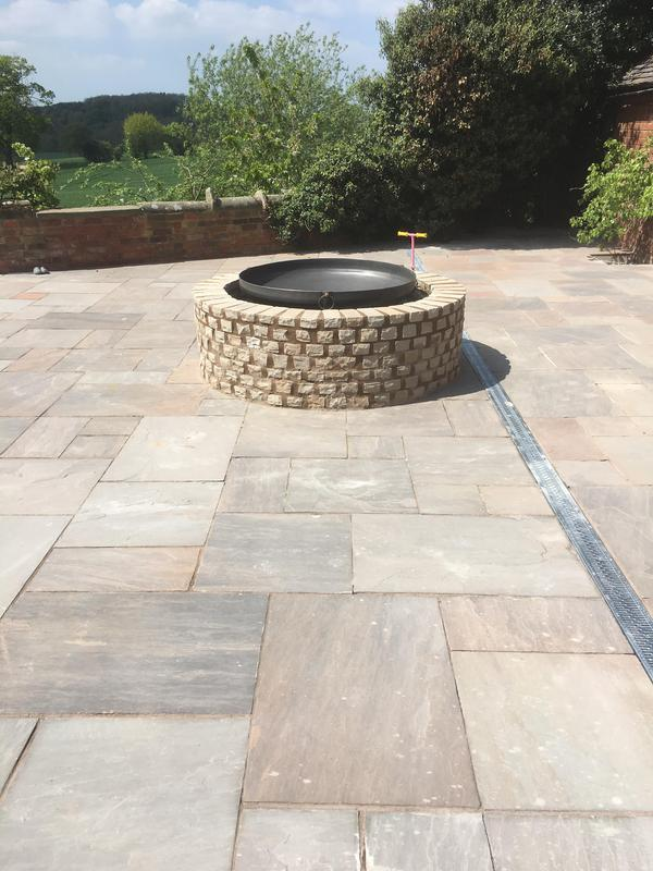 Image 202 - Free standing fire pit with Raj blend natural stone walling surround