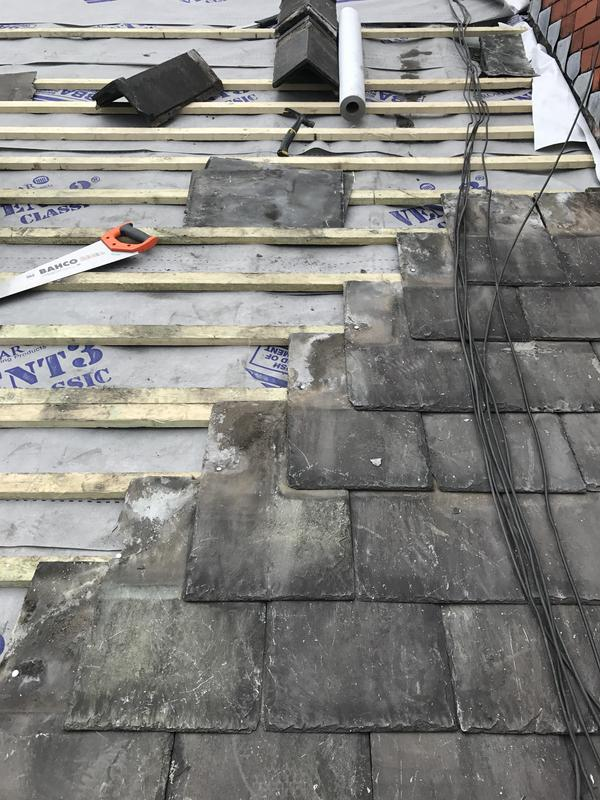 Image 32 - reroofed with old slates