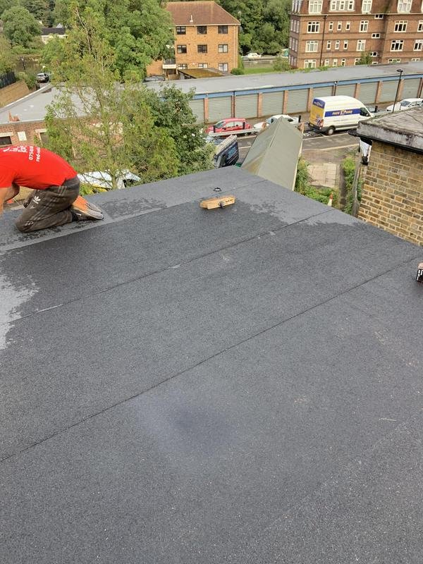 Image 48 - Flat roof installation in Twickenham finished in charcoal mineral
