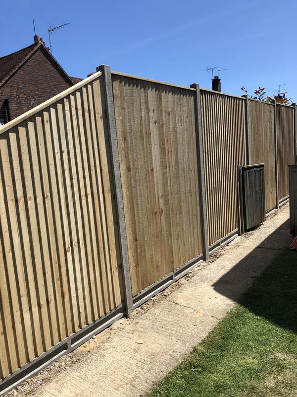 Image 38 - Really tall bespoke close board fencing