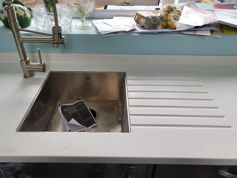Image 11 - Earthstone installation with undermount sink with groves all done on site
