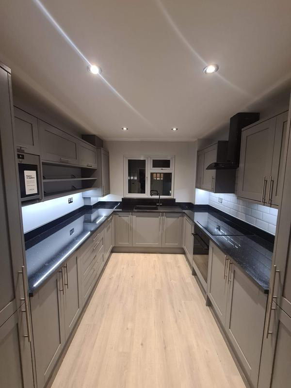 Image 20 - AFTER. Kitchen renovation, Upminster.Plastering walls and ceilings, prepare and painting kitchen, rewiring, installing new kitchen units
