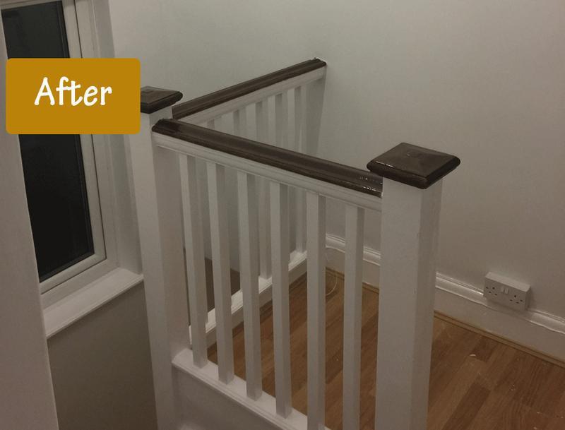 Image 13 - Banister after re-decorating