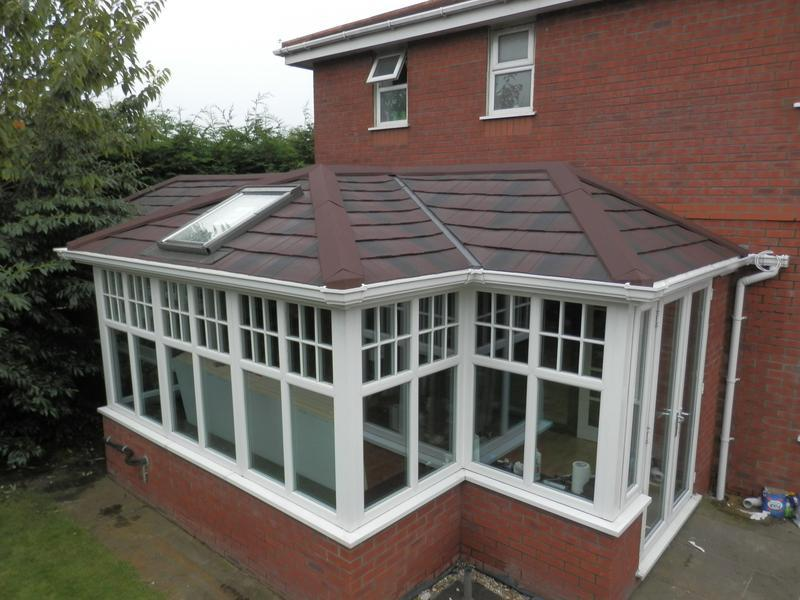 Image 48 - Consevatory after a supalite roof has been fitted