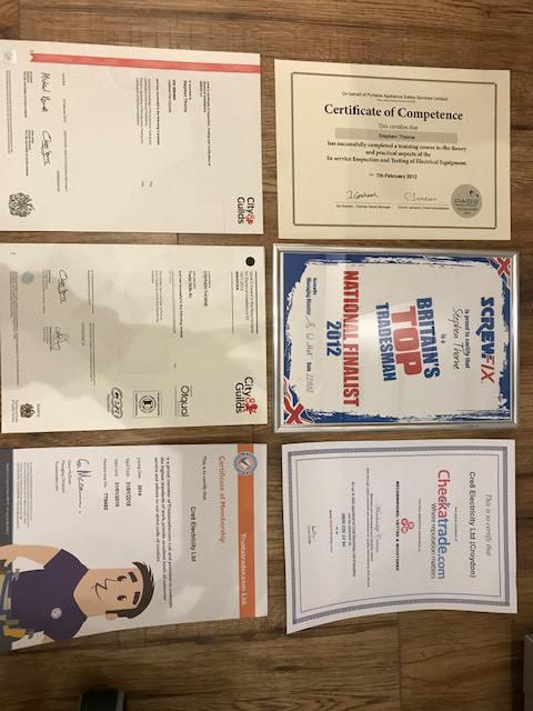 Image 7 - Some of our accreditations and certificates.