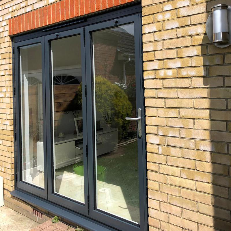 Image 51 - Aluminium-Bi-Fold-Doors-Anthracite-Grey-Open-Out-SpecialFX-Double-Glazing-Benfleet-Essex-1