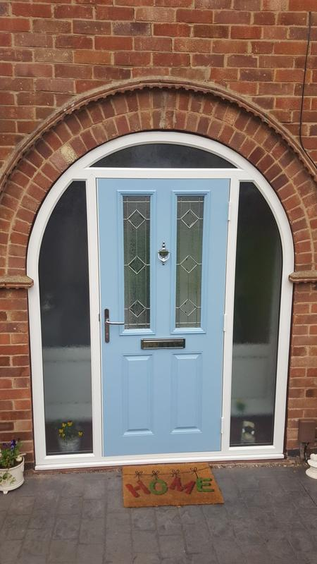 Image 22 - Beeston design Arched Composite door in Duck Egg Blue