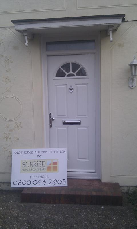 Image 25 - White composite door