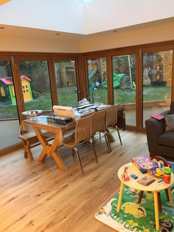 Image 12 - Oak engineered flooring to orangery