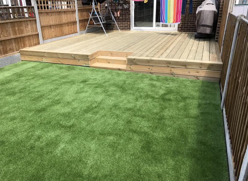 Image 12 - Artificial grass and decking.