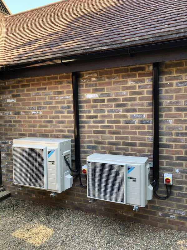 Image 6 - Two daikin condensers installed for a NHS doctors surgery in woodchurch kent.
