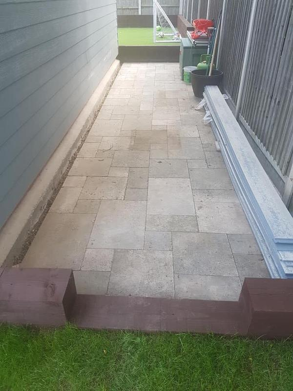 Image 135 - Recycled paving for rear of shed Job D