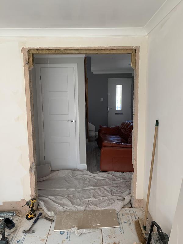 Image 37 - Glass door removed.