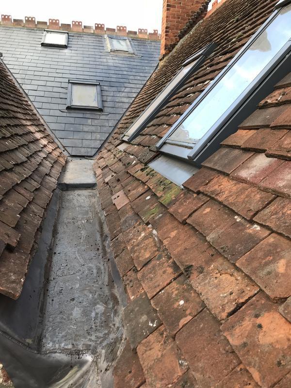 Image 5 - Lead gutter/clay peg tile work plus artificial slates with copper rivets