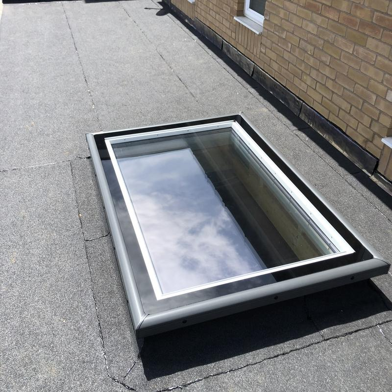 Image 11 - Beautiful rooflight installed brand-new felt roof