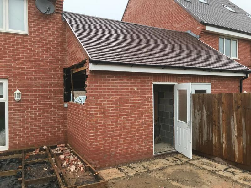 Image 41 - single storey extension continued