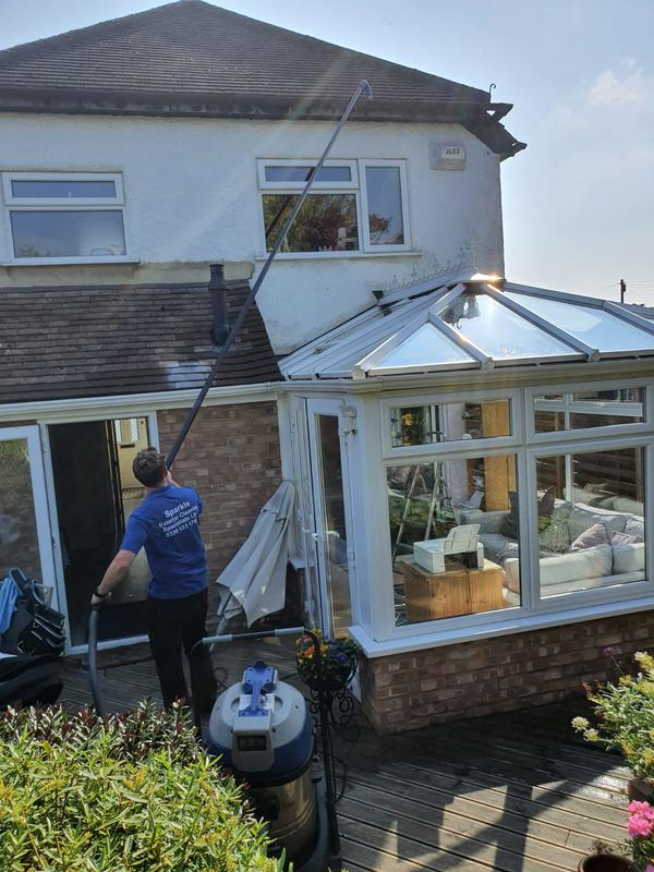 Image 4 - Clearing gutters over a conservatory