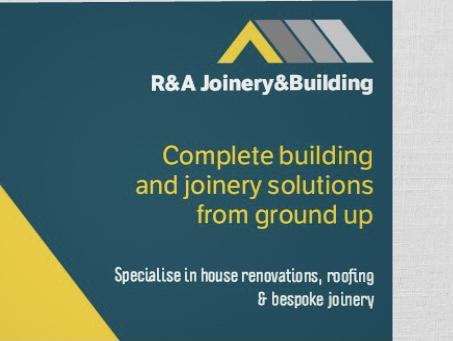 R&A Joinery & Building logo