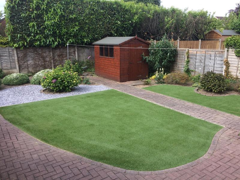 Image 9 - Astro turf lawn and slate bed nuneaton