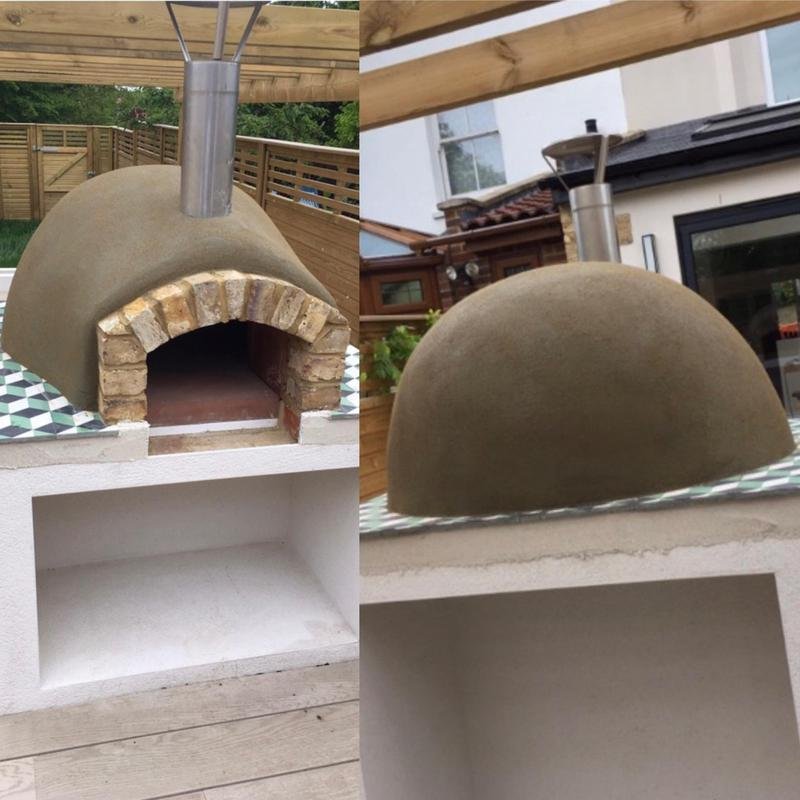 Image 11 - Pizza oven rendered using sand and cement render