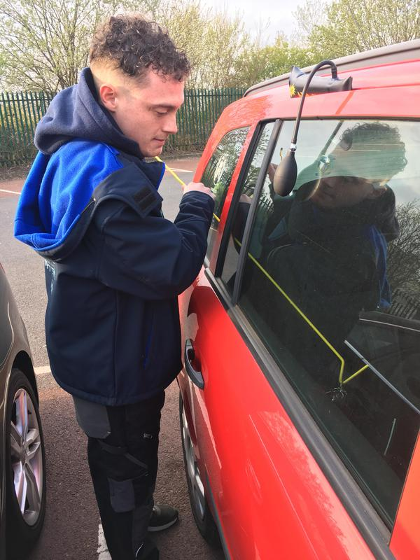 Image 30 - Customer locked his keys inside his car. Keys safely extracted with no damage to vehicle