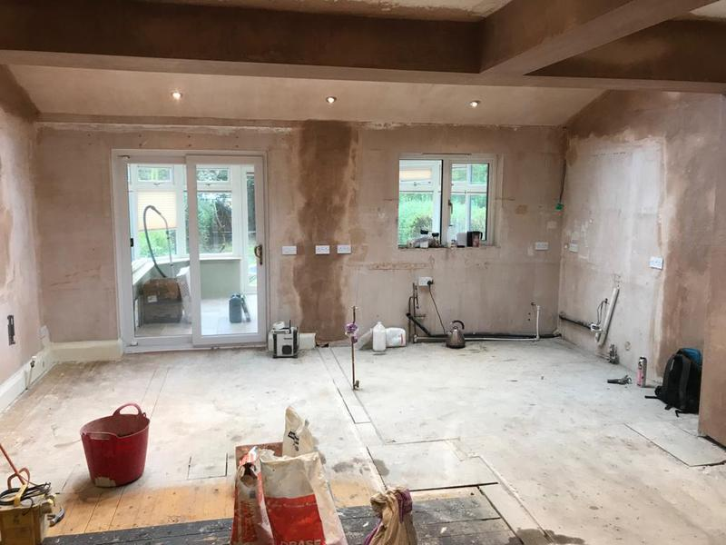 Image 4 - AFTER - Walls removed to create an open plan kitchen and dining room