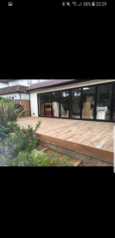 Image 39 - decking using reclaimed hardwood ( Wimbledon village )