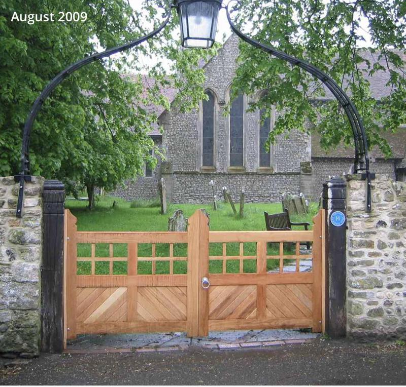 Image 60 - We built these gates for a local church, as the church Is a listed building, we took away the existing gates and copied them.