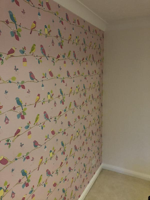 Image 5 - A feature wall paper hung.