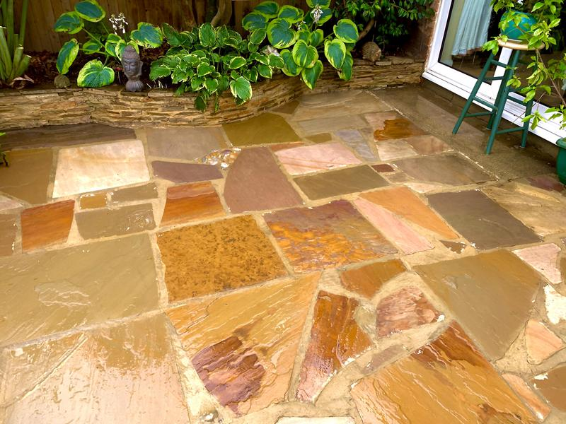 Image 3 - Patio cleaned, repointed and sealed with wet look sealant