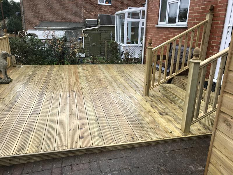 Image 18 - A fully constructed decking and steps and balastrade contract in chilham