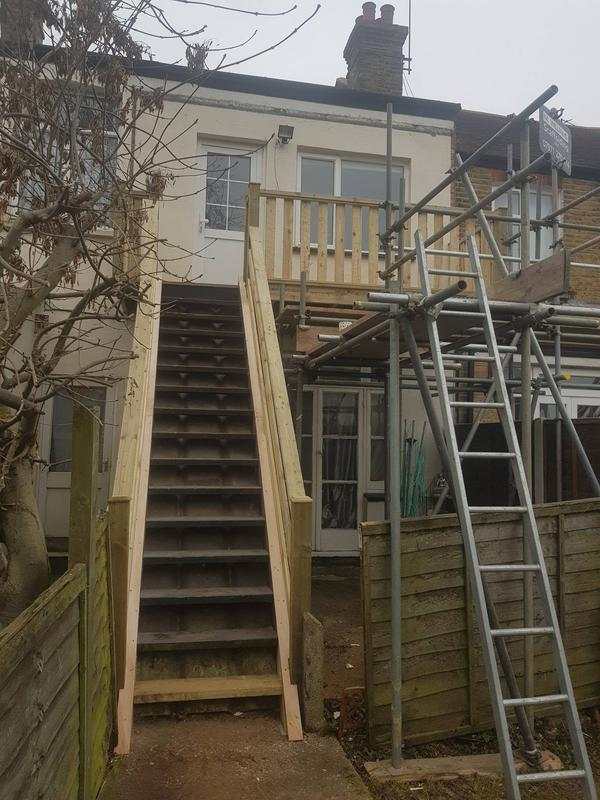 Image 9 - flat balcony with stairs